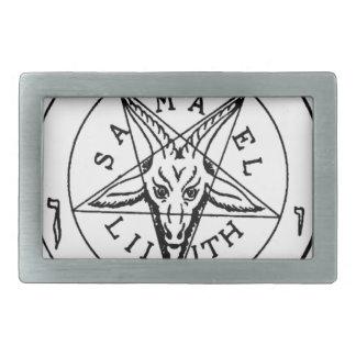 Samael Lilith Goat Pentagram Belt Buckle