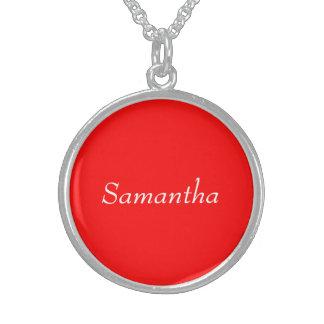 Samantha Round Pendant Necklace
