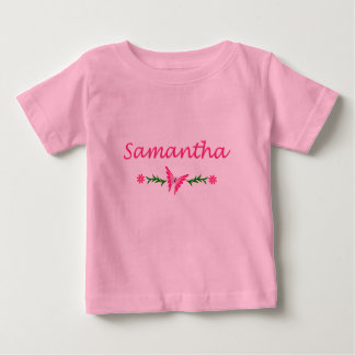 Samantha (Pink Butterfly) Baby T-Shirt