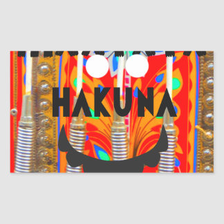 Samba Carnival colors Hakuna Matata blings.png Rectangular Sticker