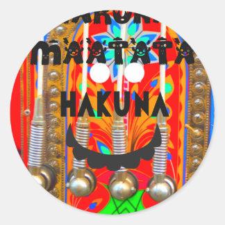 Samba Carnival colors Hakuna Matata blings.png Round Sticker
