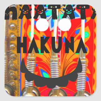 Samba Carnival colors Hakuna Matata blings.png Square Sticker