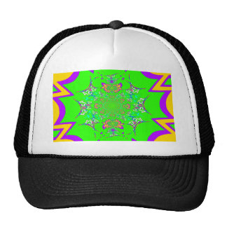 Samba Colorful Bright floral damask design colors Cap