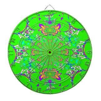 Samba Colorful Bright floral damask design colors Dartboards