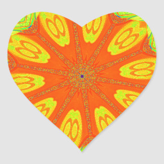 Samba Colors Heart Sticker