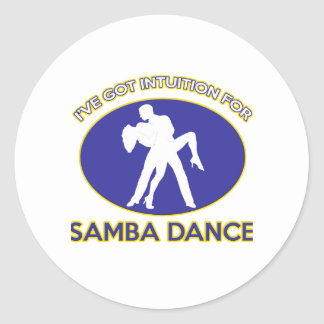 samba dance design sticker
