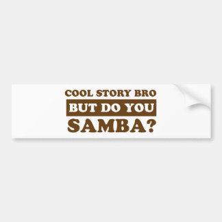 samba Dance Designs Bumper Sticker