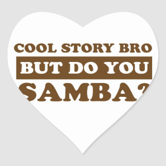 samba Dance Designs Heart Sticker