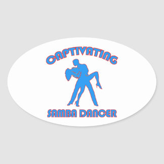 samba  DANCE DESIGNS Oval Sticker