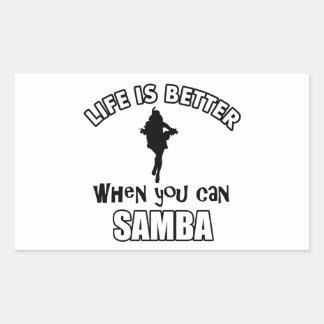 samba Dance Designs Rectangular Sticker
