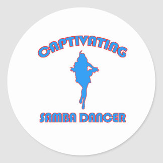 SAMBA DANCE DESIGNS ROUND STICKER