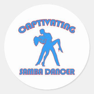 samba  DANCE DESIGNS Round Sticker