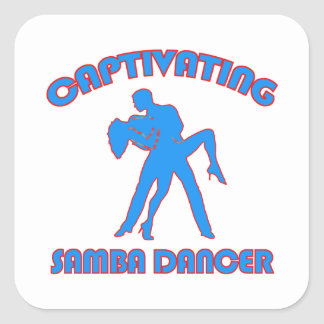 samba  DANCE DESIGNS Square Sticker