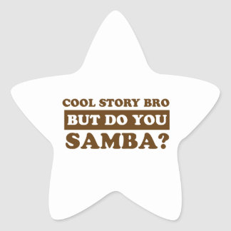 samba Dance Designs Star Sticker