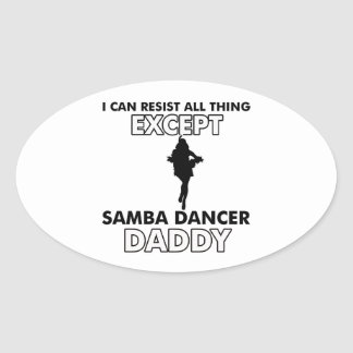 samba Dance Designs Oval Stickers
