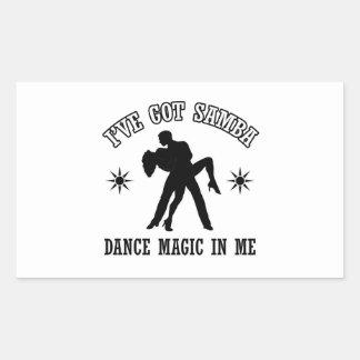 samba Dance Designs Rectangle Sticker