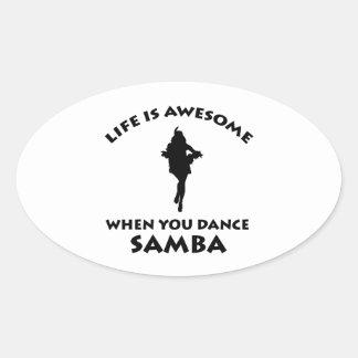 samba Dance Designs Sticker