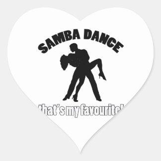 samba dance designs heart sticker