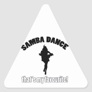 samba dance designs triangle sticker