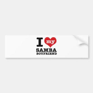 Samba dance gear bumper sticker