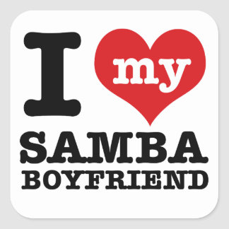Samba dance gear square sticker