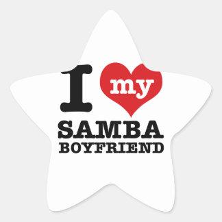 Samba dance gear star sticker