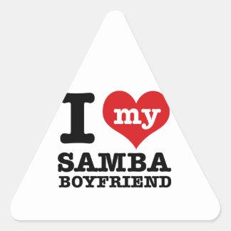 Samba dance gear triangle sticker