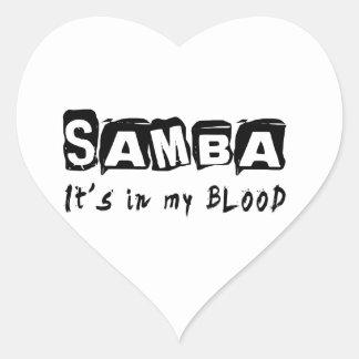 Samba Dance It s In My Blood Stickers