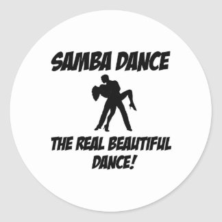 samba dance round sticker