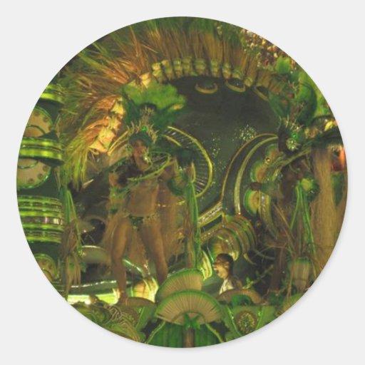 Samba dancers at Carnaval in Rio Sticker