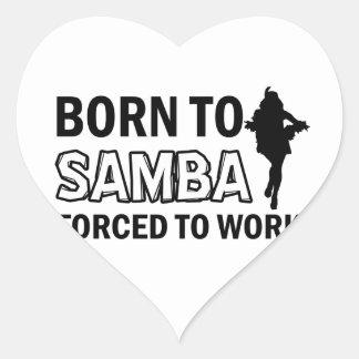 Samba dancing designs heart sticker