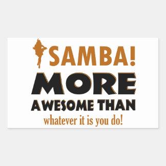 Samba dancing designs rectangular sticker