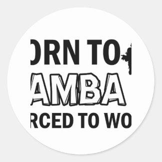 Samba dancing designs round sticker