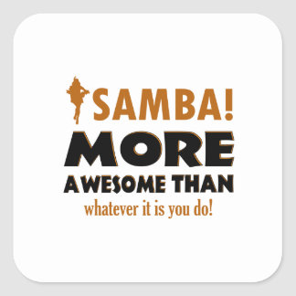 Samba dancing designs square sticker