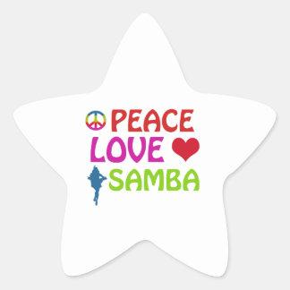 Samba dancing designs star sticker