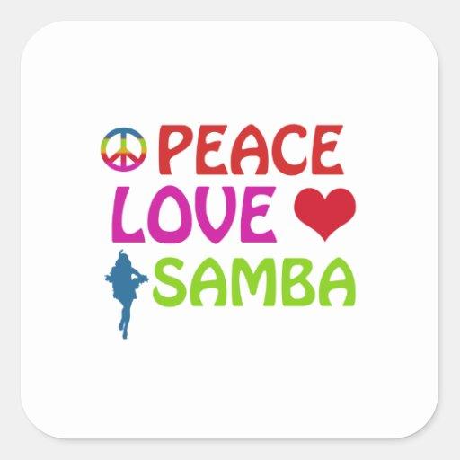 Samba dancing designs stickers