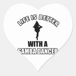 Samba dancing designs sticker