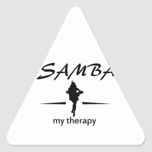 Samba dancing designs triangle stickers