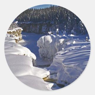 Samba Deh Falls, NT Round Sticker