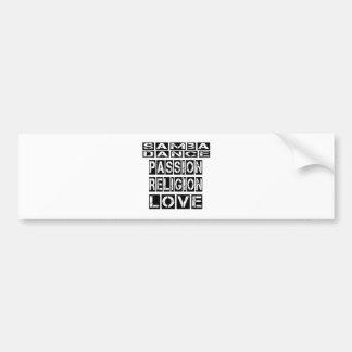 Samba Designs Car Bumper Sticker