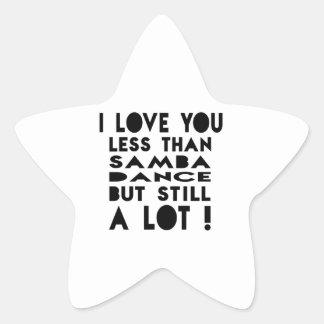Samba Designs Star Sticker