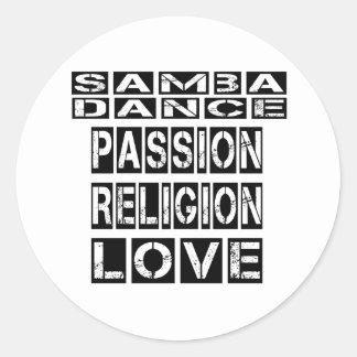 Samba Designs Classic Round Sticker