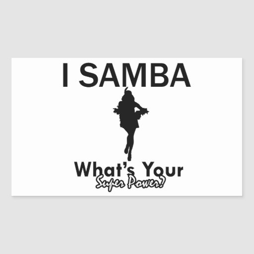 Samba designs rectangle sticker