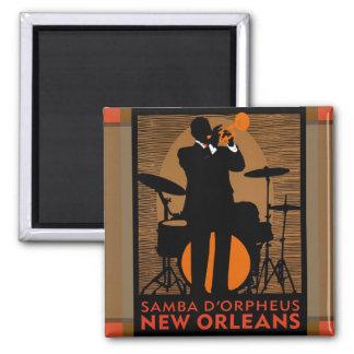 Samba D'Orpheus New Orleans Magnet