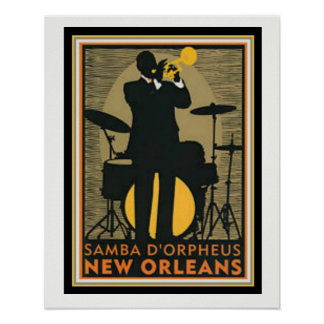 Samba D'Orpheus New Orleans Poster 16 x 20