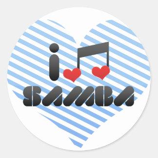 Samba fan round sticker