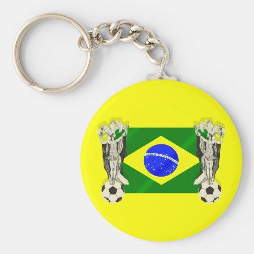 Samba football futebol fans 2010 Brazil flag gifts Key Chain