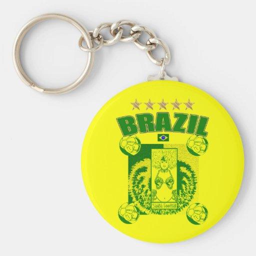 Samba football team Samba Futebol fans gifts Key Chain