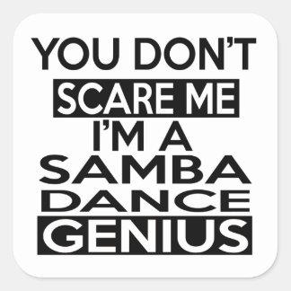 SAMBA GENIUS DESIGNS SQUARE STICKER