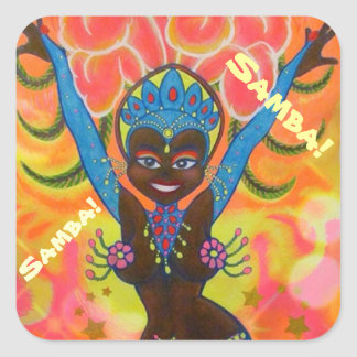 Samba Girl No. 1 Square Sticker